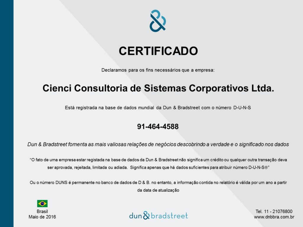Certificado - Brasil